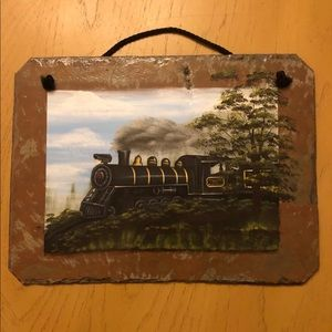 Painted Train Slate